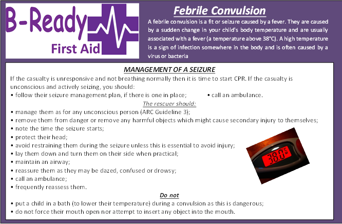 Febrile Convulsion Management by B-Ready First Aid