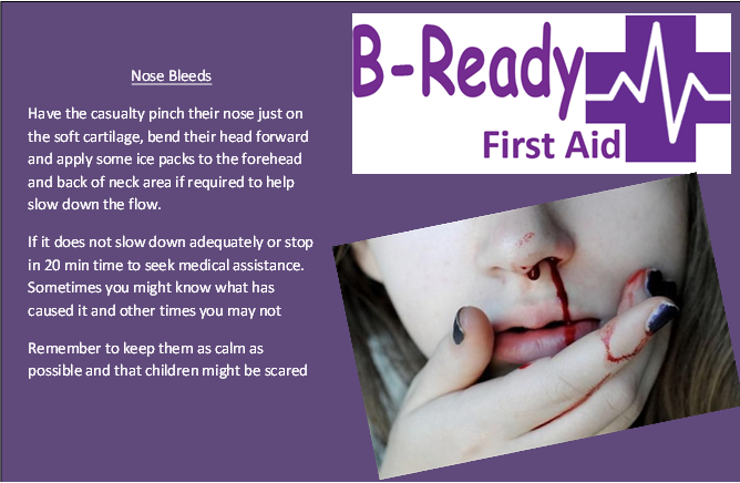 Nose Bleeds by B-Ready First Aid