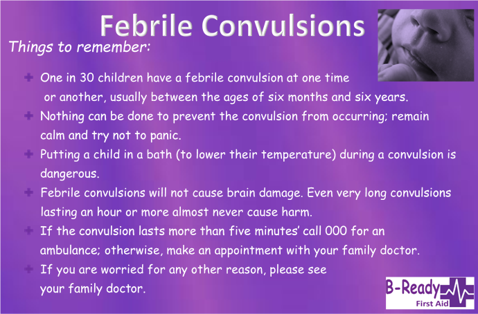 Febrile Convulsion Info by B-Ready First Aid