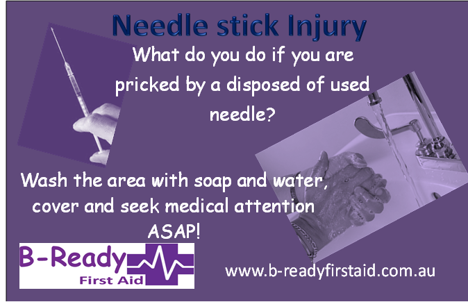 Needle stick injuries by B-Ready First Aid