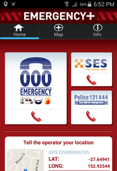 Emergency + App help with your location in an emergency CPR or First Aid Situation to call for help,Included in our Training in Brisbane's' West, East, South & North