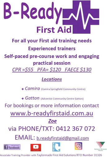 Contact details B-Ready First Aid in Camira, Springfield, Wooloongabba & Gatton